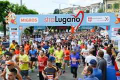 StraLugano half marathon Royalty Free Stock Photo