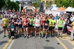 StraLugano half marathon Stock Images
