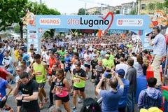 StraLugano half marathon Stock Photo