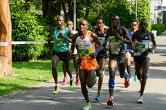 StraLugano halve marathon Stock Afbeeldingen