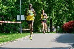 StraLugano halve marathon Royalty-vrije Stock Afbeeldingen