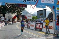 StraLugano halve marathon Stock Foto's