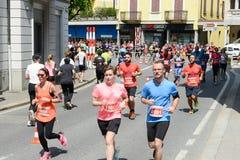 StraLugano halve marathon Royalty-vrije Stock Afbeelding