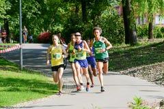 StraLugano halve marathon Royalty-vrije Stock Foto