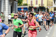 StraLugano halve marathon Royalty-vrije Stock Foto's