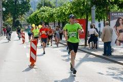 StraLugano halve marathon Stock Afbeelding