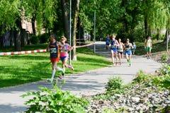 StraLugano halve marathon Royalty-vrije Stock Fotografie