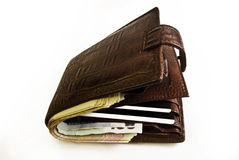 Stram-fylld plånbok Royaltyfri Fotografi