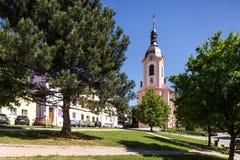 Stramberk, republika czech Kościół Jan Nepomucky Obraz Royalty Free