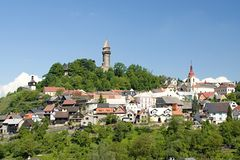 Stramberk  small town in Moravia Royalty Free Stock Image