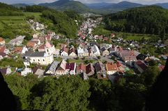 Stramberk Town. View onto the town of Stramberk from the Stramberska Truba lookout tower royalty free stock photo