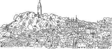 Stramberk, ville historique Photo libre de droits