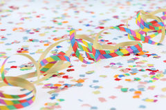 Stramers and confetti Stock Photography