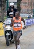 Stramilano 2010 Winner. The winner and recordman of the Milan's Stramilano international half-marathon  Moses Mosop Cheruyot (59'20) from Kenya Stock Photography