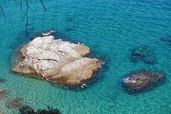 Strandö Costa Brava royaltyfri foto
