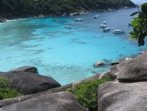 strandö similan thailand Royaltyfri Fotografi