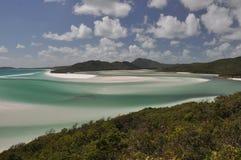 strandöar whitehaven whitsunday arkivfoton