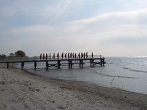 strandövning Arkivfoto