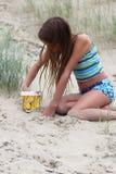 Am Strand Stockfotos