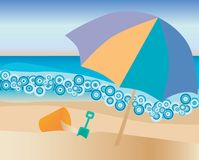 Strand stock illustratie