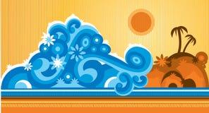 strand stock illustrationer