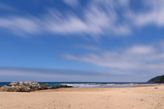 Am Strand Stockfoto