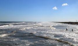 Strand in Aalmoezeniereiland, Zuid-Texas stock foto