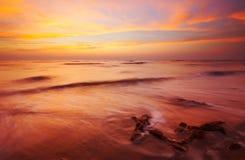Strand am Abend Stockfoto