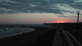 Strand am Abend stock video