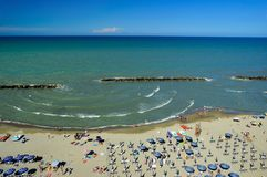 Strand in Abruzzo gebied, Italië royalty-vrije stock foto