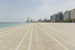 Strand in Abu Dhabi Lizenzfreies Stockfoto
