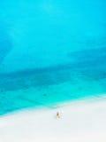 Strand in Abu Dhabi- - Corniche-Strand Lizenzfreie Stockfotografie