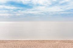 Strand achtergrondochtend Royalty-vrije Stock Foto