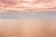 Strand achtergrondochtend Royalty-vrije Stock Foto's