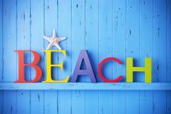 Strand Achtergrondreisvakantie royalty-vrije stock afbeeldingen
