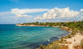Strand in Aegina Stockfotografie