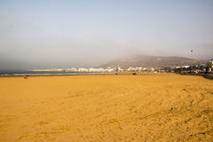 Strand in Agadir-Stadt in Marokko im Jahre 2016 Stockfoto