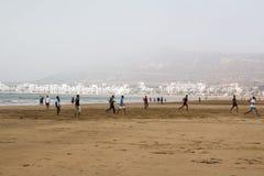 Strand in Agadir-Stadt in Marokko im Jahre 2016 Lizenzfreies Stockfoto
