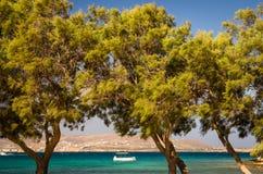 Strand Agia Irini, Paros-Insel, Griechenland Stockbild