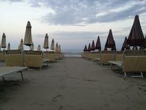 Strand in alassio royalty-vrije stock foto's