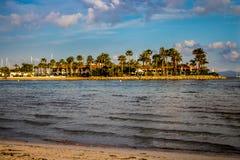 Strand in Alcudia Mallorca royalty-vrije stock foto's