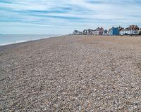 Strand in Aldeburgh, Engeland royalty-vrije stock afbeeldingen