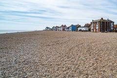 Strand in Aldeburgh, Engeland stock afbeelding