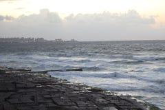 Strand Alexandrië stock afbeeldingen