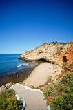 Strand in Algarve Royalty-vrije Stock Afbeeldingen