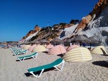 Strand in Algarve, Portugal Stock Afbeelding