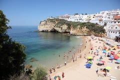 Strand in Algarve, Portugal Royalty-vrije Stock Afbeelding