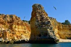 Strand in Algarve, Portugal Lizenzfreies Stockbild