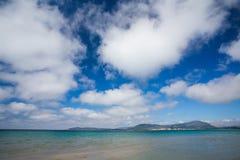 Strand in Alghero, Sardinige Stock Afbeelding