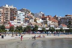 Strand in Alicante, Catalonië Spanje Stock Afbeeldingen